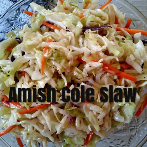 Amish coleslaw dressing recipe