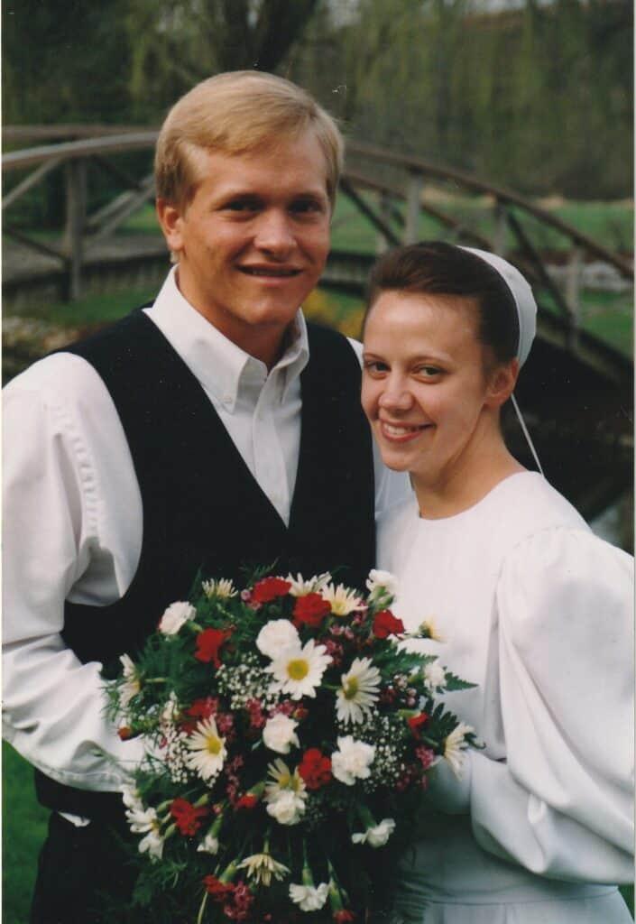 On my wedding day, a Mennonite girl