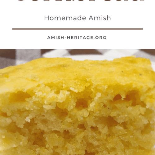 moist amish cornbread