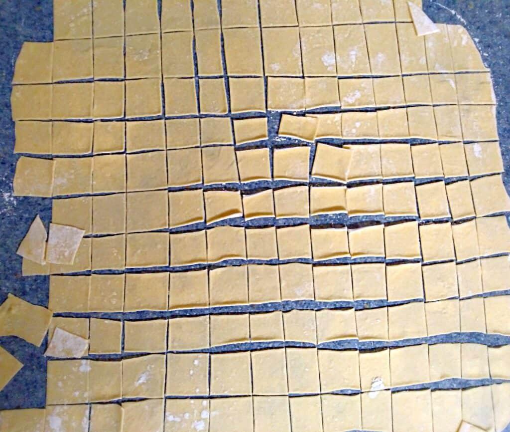 chicken pot pie noodle squares