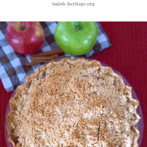Amish Dutch apple pie