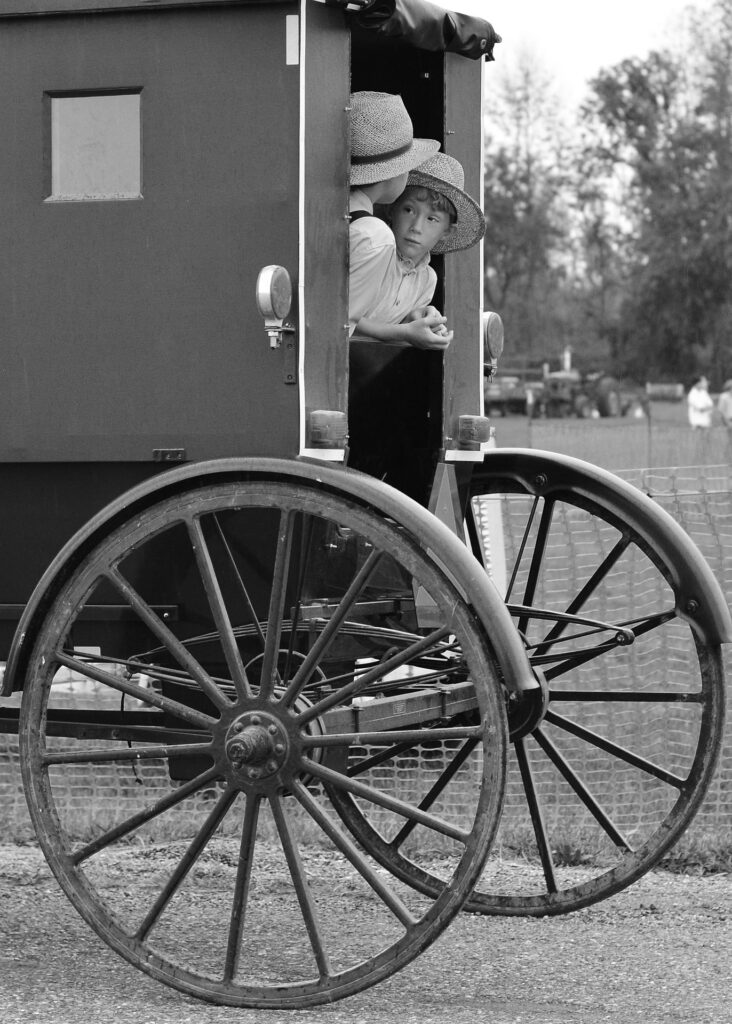 names of Amish boys in buggy