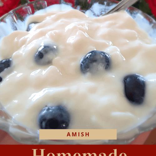 Amish homemade vanilla yogurt