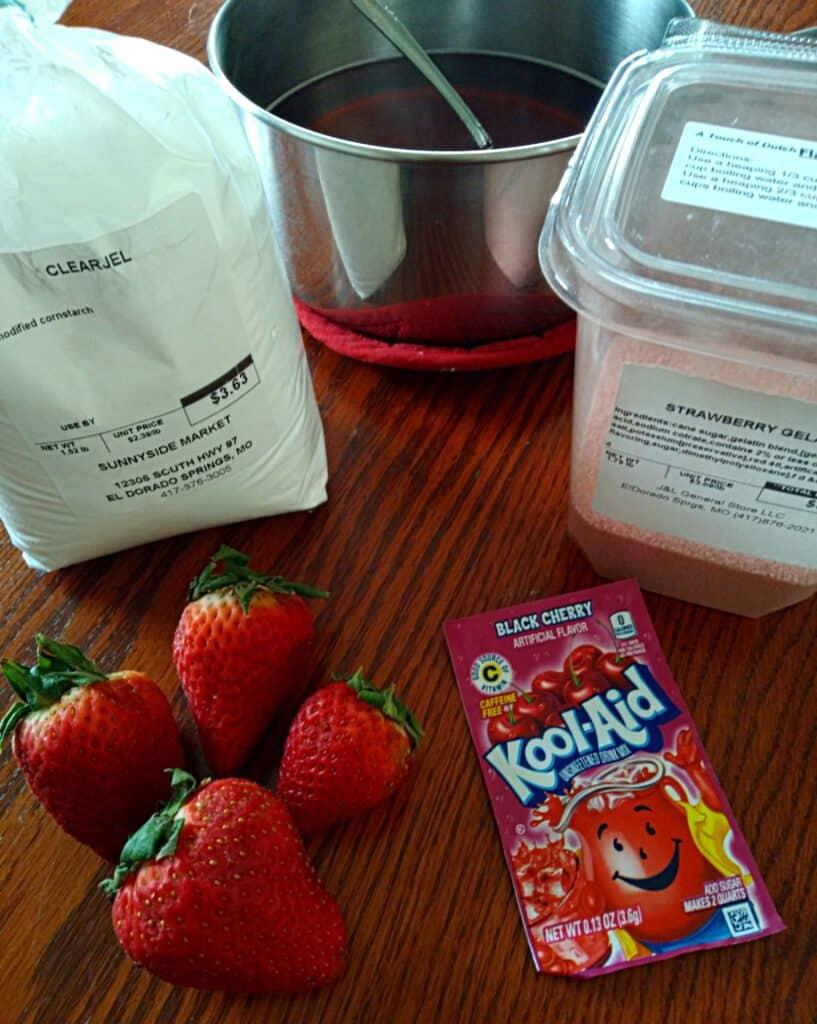 Strawberry Danish ingredients